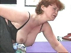 German Hairy Mature masturbating