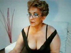 Granny smokes very sexy