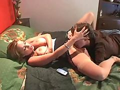 Mature milf in nylons and young guy