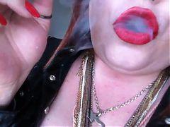 BBW Smokes 6 Cigs All At Once Smoking Fetish