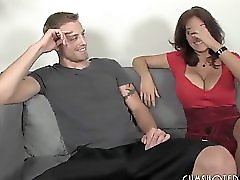Hot Brunette MILF Fucking Her Daughter s B