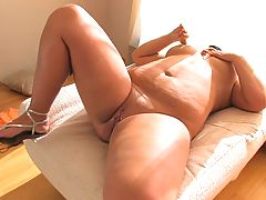 Beautiful busty girl Amelia masturbating 1