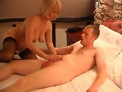 Mature Blonde Loves Young Cock