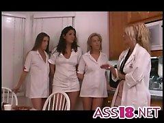 Mature stud bangs slut in nurse's uniform ass18