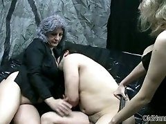 Dirty Granny Loves Having Kinky Sex With A Teen Couple