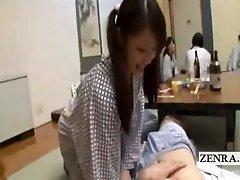 Subtitle japan schoolgirl blowjob and sex at restaurant