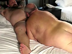 Mature Fat Man With Nice Tattoo Riding