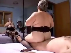 Sexy Granny Fucked By Two Cocks