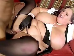 Plump mom with fat tits & black guy with huge dick