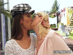 Dominica Fox and Jennyfer Old Young Lesbian Love