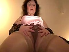 Mature Satin And Stockings Tease