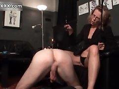 Nasty mature slut rubs a cock by austriaxxx