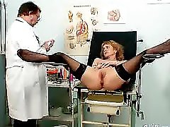 Skinny Milf Nora Gyno Clinic Exam By Kinky Doctor