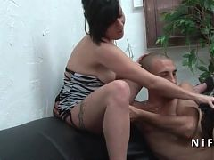 Amateur French Mature Hard Banged In Groupsex With Papy