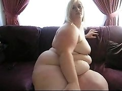 BBW blond on cam