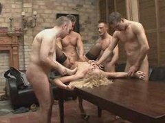 GANGBANG CELEBRATION FOR A FINE LADY 6