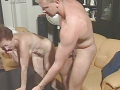Granny Susanne Drains Muscle Boy