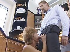 Mature Slut Fucked In The Kitchen