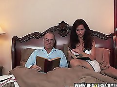 Bored MILF fucks her step daughter
