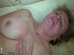 OldNanny Nice threesome Old lady and young couple have sex