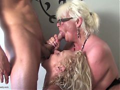 Mother Mother And Mother Sharing Lucky Young Cock