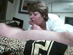 bridget is sucking and fucking a young cock