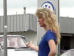 Horny hitchhiker gets the ride she wants
