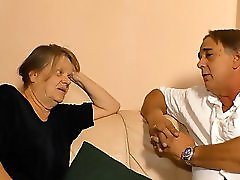 XxxOmas Mature German granny gets to taste some creamy yummy spunk