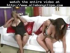 Charmaine N Cathy Black Ebony Cumshots Ebony Swallow In