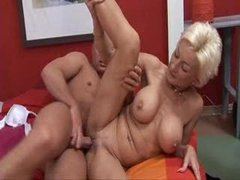 Mature blondie fucked by young boy