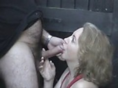 Mature redhead in alley 02