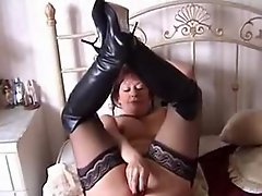 Mature in Stockings and Boots Dildos