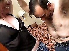 Guy Fucks Horny Old Bitch In Bed