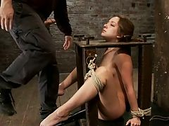 Remy Lacroix Bound Toy Throatfucked And Spanked