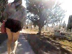 Walking Through The Cemetery