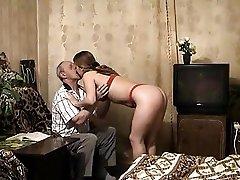 Young Blond Fucks Grandpa