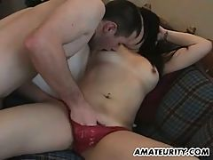 Amateur Asian Girlfriend Sucks And Fucks With Her Boyfriend