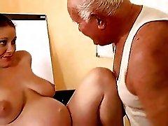 Grandpa fuck a pregnant girl
