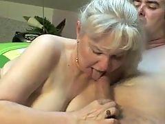 Blonde granny fucking sex