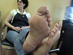 Mature Clerk Feet