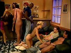 Classic orgy some DP good cumshots