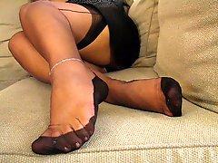 Mature Fully Fashioned Stockings Feet