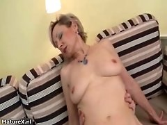 Horny blonde mature woman goes crazy sucking and riding