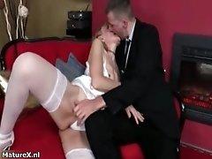 Dirty Mature Blonde Slut Goes Crazy Getting Her Wet Cun