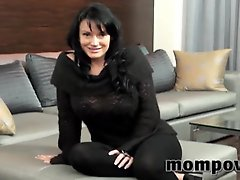 Big tits milf doing her first porn ever