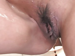Slender Babe Gets Oiled Up Before Toy Masturbation