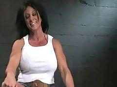 A Musculer Women InBondage