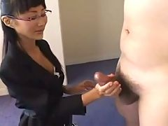 Japanese Secretary In Hot Handjob In Meeting Room