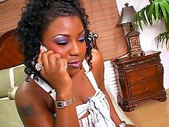 Ebony Chick Loves Big Black Cock