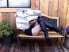 Hot Blonde Cougar in Boots Stogie Smoking Sex